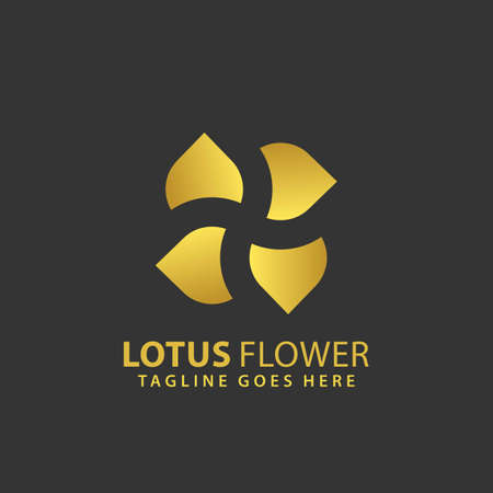 Abstract Lotus Plus Flower Logos Design Vector Illustration Template Stock Premium