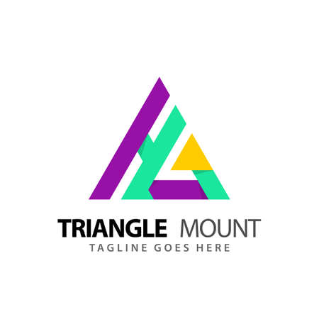 Abstract Letter HG Triangle Mountain Modern Logos Design Vector Illustration Template Stock Premium