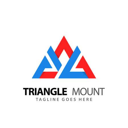 Abstract Triangle Mountain Adventure Modern Logos Design Vector Illustration Template Stock Premium