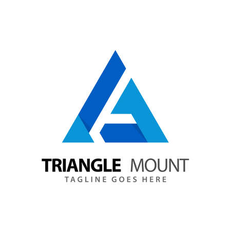Triangle Mountain Adventure Modern Logos Design Vector Illustration Template Stock Premium