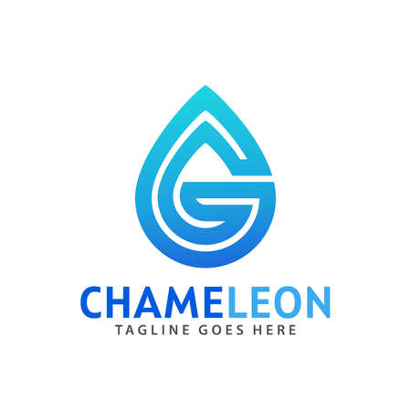 Abstract Letter G Water Drop Logos Design Vector Illustration Template
