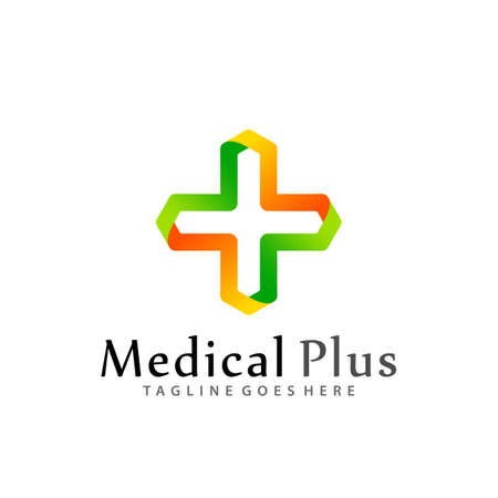 Gradient Medical Plus Modern Logos Design Vector Illustration Template