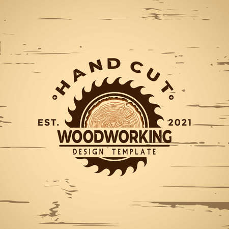Woodworking logo Design icon element vector illustration 向量圖像