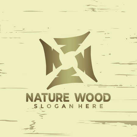 Abstract Letter N Nature Wood modern logo Designs vector illustration