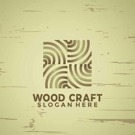Abstract Woodcraft modern logo Designs vector illustration