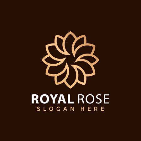 Royal Rose Fashion logo Design vector illustration Ilustração