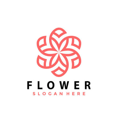Flower logo Design vector illustration Ilustração