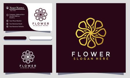 Flower Rose  Ornament Logo Designs vector illustration, Business card template