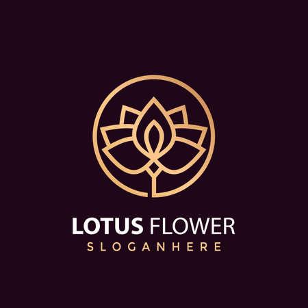 Lotus Flower Luxury logo Design vector illustration Ilustração
