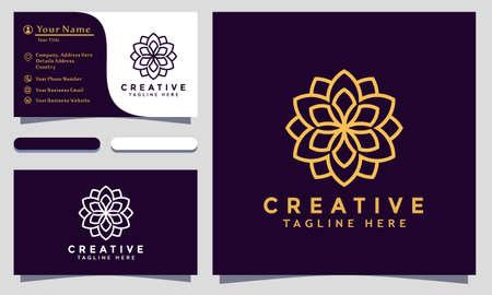 Modern creative Mandala Logo Design and template. Ornamen Logos icon minimalist elegant vector
