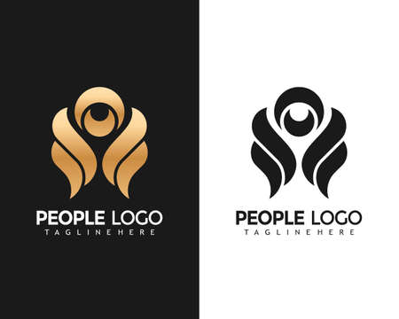 People fashion Creative Logo Design Vector Illustration template