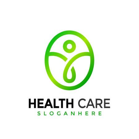 Health care Modern Logo Design Vector Illustration