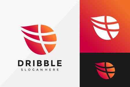 Letter D basketball Logo Design, Modern Logo Designs Vector Illustration Template
