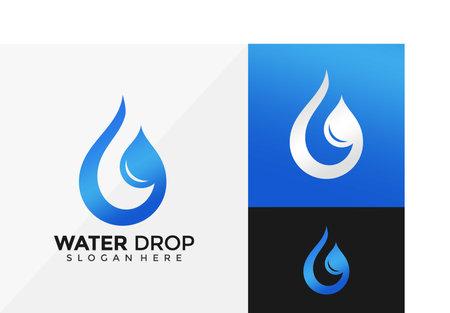Letter G Water Drop Logo Design, Modern Logo Designs Vector Illustration Template