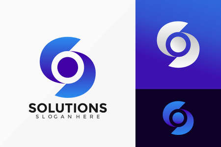 Vector Letter S Solutions Technology Logo Design. Abstract emblem, designs concept, logos, logotype element for template.