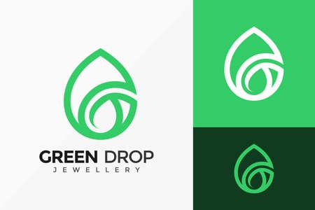 G Letter Green Drop Logo Vector Design. Abstract emblem, designs concept, logos, logotype element for template.