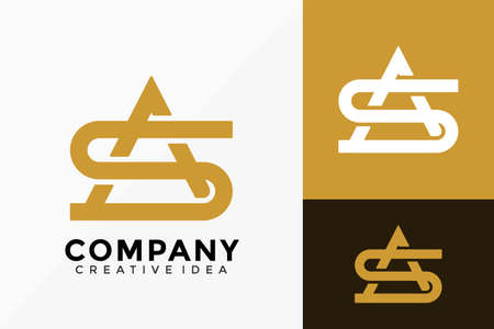Luxury Letter AS Monogram Company Logo Vector Design. Abstract emblem, designs concept, logos, logotype element for template. Logo