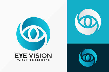 Eye Vision Business Logo Vector Design. Abstract emblem, designs concept, logos, logotype element for template.
