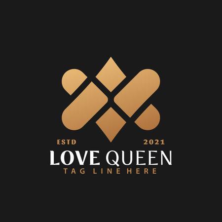 Gold Letter AV or VA Love Logo Design, Abstract Logos Designs Concept for Template