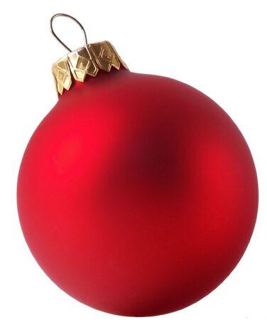 Red Satin Weihnachtsdekoration. Isoliert, mit perfekter weißen Hintergrund.