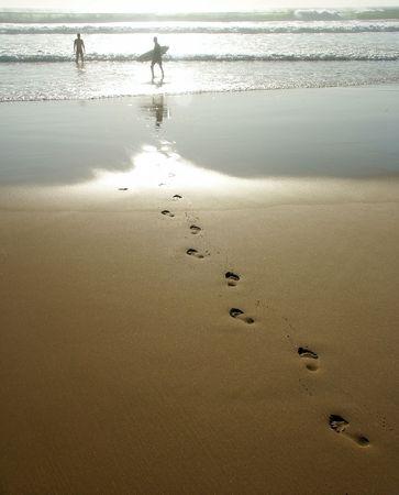 Foot Prints zu den heißen Stein.