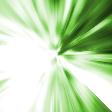 Green Blast. Abstract background.