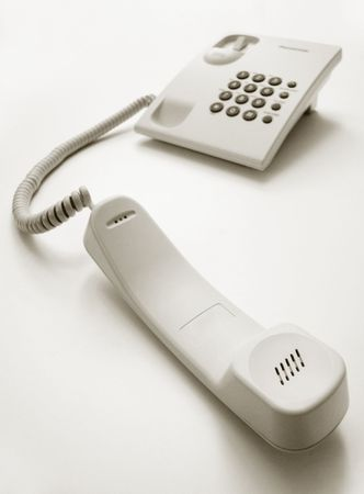 Telephone with receiver out, just like waiting to pick up...