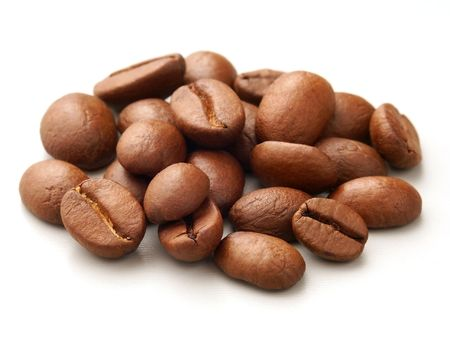 Ausgewählte Kaffeebohnen.