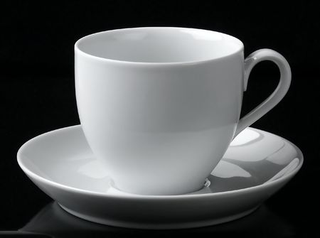 Eine leere Tasse.