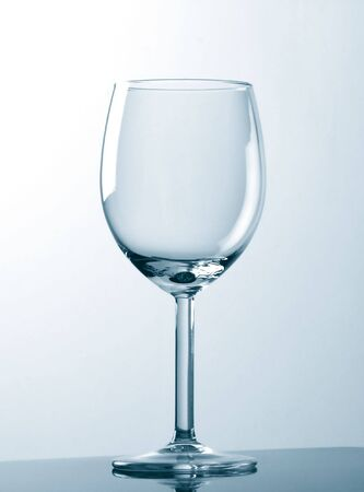 Glass in cyan tone. Red Wine Style