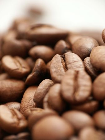 Coffeebeans - Soft-focus view.