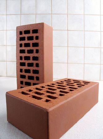 clinker: Due mattoni nella vista del primo piano.