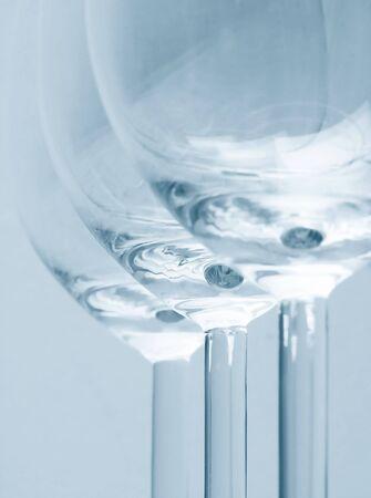 soft focus: Fragmentos de vidrios. Enfoque suave. Azul. Foto de archivo