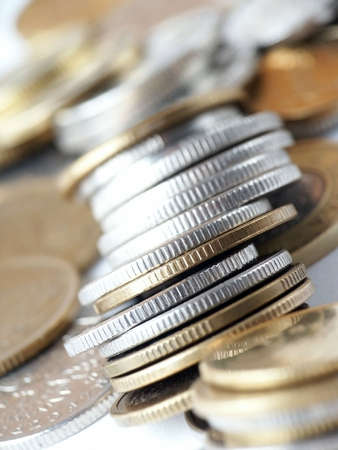 indigence: Coins, Soft-focus.