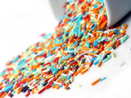 Rainbow Sprinkles  Standard-Bild