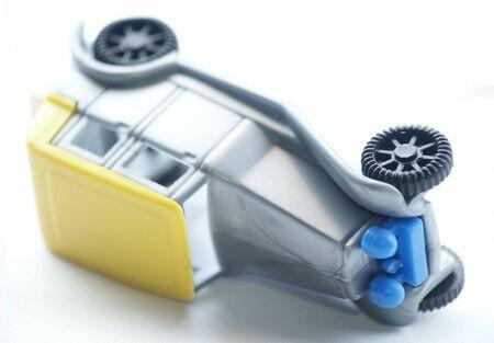 shocks: Toy Car. Accident. Soft focus.