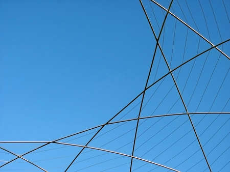 Round Fence with blue Sky in background. Stock Photo - 461457