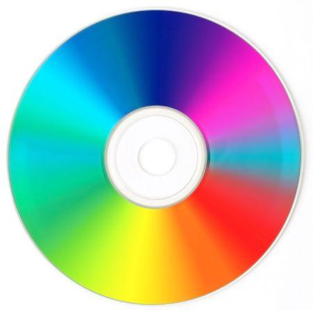 CD  DVD  - Rainbow Color. Stock Photo