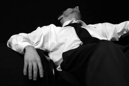 strip shirt: Drunk Man. Businessman. Depressive.