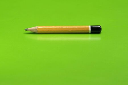 lifespan: A yellow Pencil with green background.
