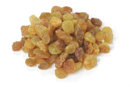Sweet Raisins isolated on white background. Stock Photo