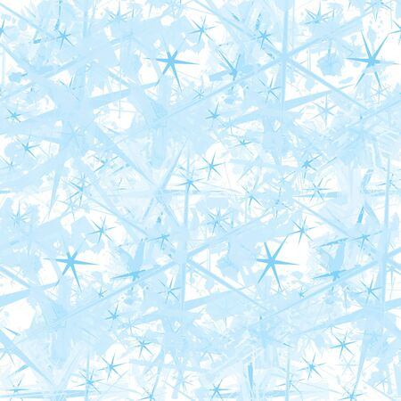 hoar: Illustration with IceStars frosting on a window. Stock Photo