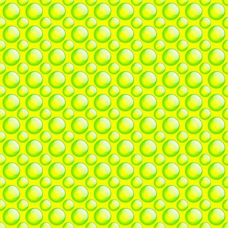 Fresh Button Pattern. Green & Yellow. photo