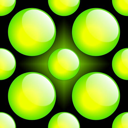 Fresh Button Pattern. Green & Black. Stock Photo - 4001208