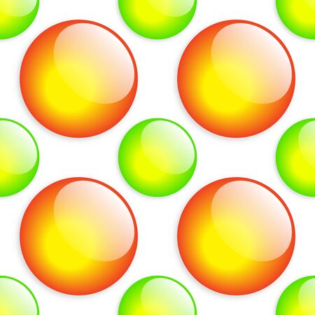Fresh Green & Orange Button Pattern. Stock Photo - 4001212