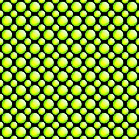 Fresh Button Pattern. Green & Black. photo