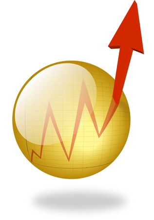 boost: Press the Button to get a Boost to Your Success! Glassy Golden Button with punching out Chart. Stock Photo