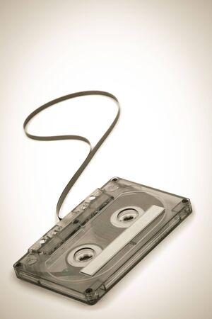 Classic audio Cassette  in sepia. photo