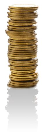Stacks of golden coins. Stock Photo - 8411788