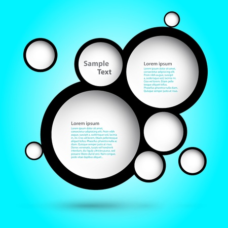 foam bubbles: Foam Bubbles  Abstract web design   Illustration